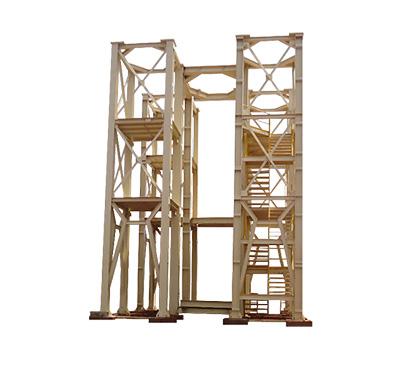 Estrutura metálica de elevação para silo